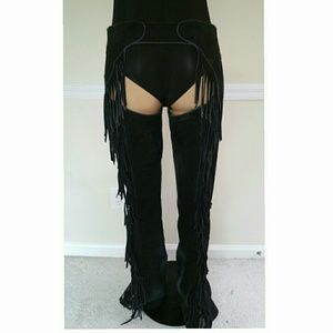 Vintage Suede Chaps with Fringe
